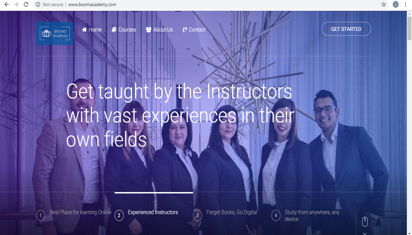 Boomi Academy website design by 360degree digital markerting