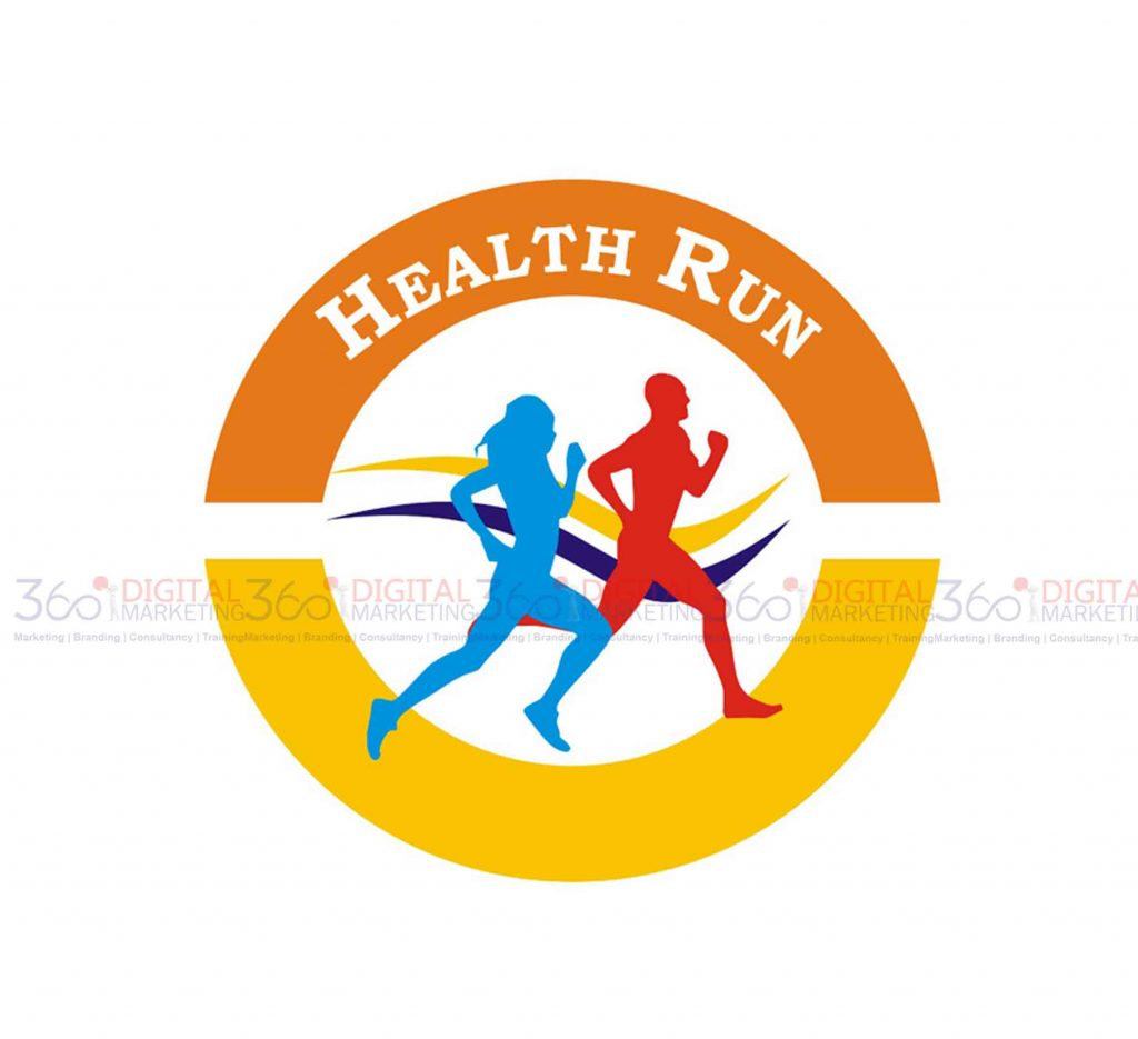 TwinCity health run logo design by 360degree digital marketing